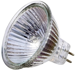 12 Volt Halogen Dichroic MR16 (20 Degree Beam) Closed Front 75 Watt